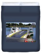Ryer And Grand Island Ferry Duvet Cover