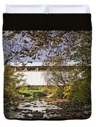 Ryot Covered Bridge And Stream Duvet Cover