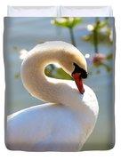 S Is For Swan Duvet Cover
