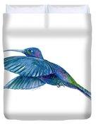 Sabrewing Hummingbird Duvet Cover by Amy Kirkpatrick