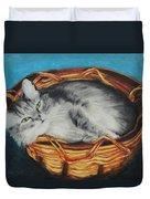 Sabrina In Her Basket Duvet Cover