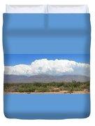 Sacramento Mountains Storm Clouds Duvet Cover