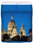 Sacre Coeur - Night View Duvet Cover