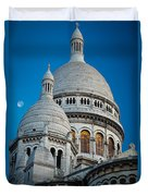 Sacre-coeur And Moon Duvet Cover