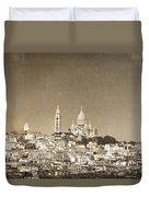 Sacre Coeur Basilica Of Montmartre In Paris Duvet Cover