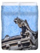 Sacre Coeur Gargoyle Duvet Cover