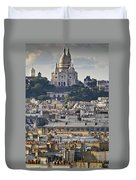 Sacre Coeur Over Rooftops Duvet Cover