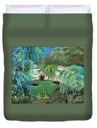 Sacred Cenote At Chichen Itza Duvet Cover