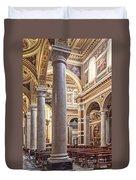 Sacred Heart Of Jesus Church Rome Italy Duvet Cover