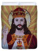 Sacred Heart Of Jesus Hand Embroidery Duvet Cover