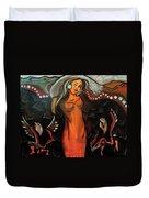Sacred Prayer Dance Duvet Cover