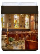 Sacred Space - Our Lady Of Mt. Carmel Church Duvet Cover