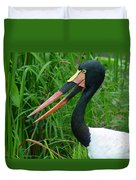 Saddle Billed Stork-00139 Duvet Cover