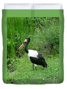Saddle Billed Stork-136 Duvet Cover
