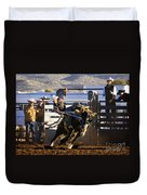 Saddle Bronc Riding Competition Duvet Cover