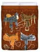Saddle Leather Duvet Cover