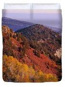 Saddle Mountain Autumn-sq Duvet Cover