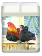 I'm Feeling So Safe Inside Our Shed With You  Duvet Cover