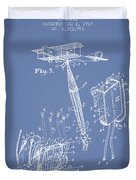 Safety Parachute Patent From 1919 - Light Blue Duvet Cover