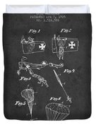 Safety Parachute Patent From 1925 - Charcoal Duvet Cover