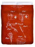 Safety Parachute Patent From 1925 - Red Duvet Cover
