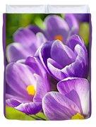 Saffron Flowers. Duvet Cover