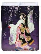 Sagi No Mai Duvet Cover by Haruyo Morita
