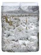 Saguaro Cacti After Rare Desert Duvet Cover
