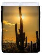 Saguaro Cactus 3 Duvet Cover