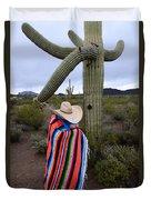 Saguaro Cactus The Visitor 1 Duvet Cover