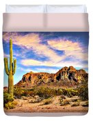 Saguaro Superstition Mountains Arizona Duvet Cover