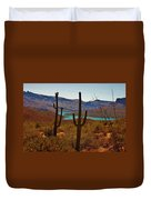 Saguaros In Arizona Duvet Cover