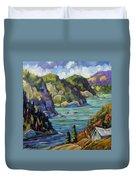 Saguenay Fjord By Prankearts Duvet Cover