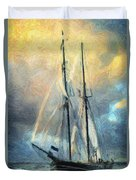 Sail Away To Avalon Duvet Cover by Taylan Apukovska