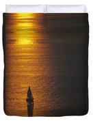 Sail Boat On Puget Sound Duvet Cover