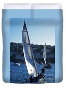 sail boat Penryn river Spring 2010 six Duvet Cover
