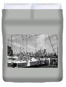 Sail Boats Toronto On Duvet Cover
