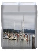 Sail Boats Waiting For Their Captains Duvet Cover