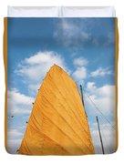 Sail Of A Boat, Ha Long Bay, Quang Ninh Duvet Cover