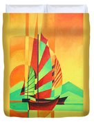 Sail To Shore Duvet Cover by Tracey Harrington-Simpson