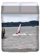 Sailboarder At Hilton Head Island Beach Duvet Cover