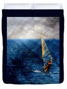 Sailboarding W Metal Duvet Cover
