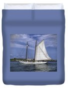 Sailboat In Cape May Channel Duvet Cover