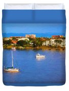 Sailboat In Holly Hill Duvet Cover