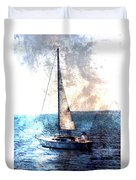 Sailboat Light W Metal Duvet Cover