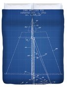 Sailboat Patent From 1932 - Blueprint Duvet Cover