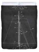 Sailboat Patent From 1932 - Dark Duvet Cover