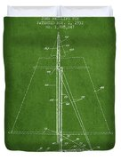 Sailboat Patent From 1932 - Green Duvet Cover