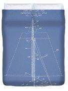 Sailboat Patent From 1932 - Light Blue Duvet Cover