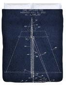 Sailboat Patent From 1932 - Navy Blue Duvet Cover